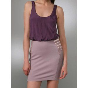Alice + Olivia Nicky Blouson LeatherPanel Dress- 4